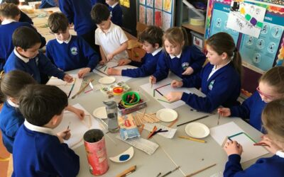 Arts Week -buddy art with room 4 and 13