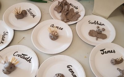Spring animals in room 4 and room 8-buddy art