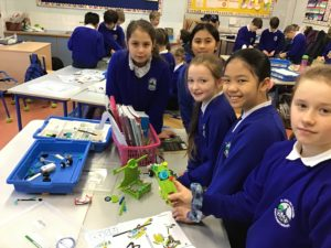 Lots of engineering going on in 3rd class for Lego League Boomtown Build!