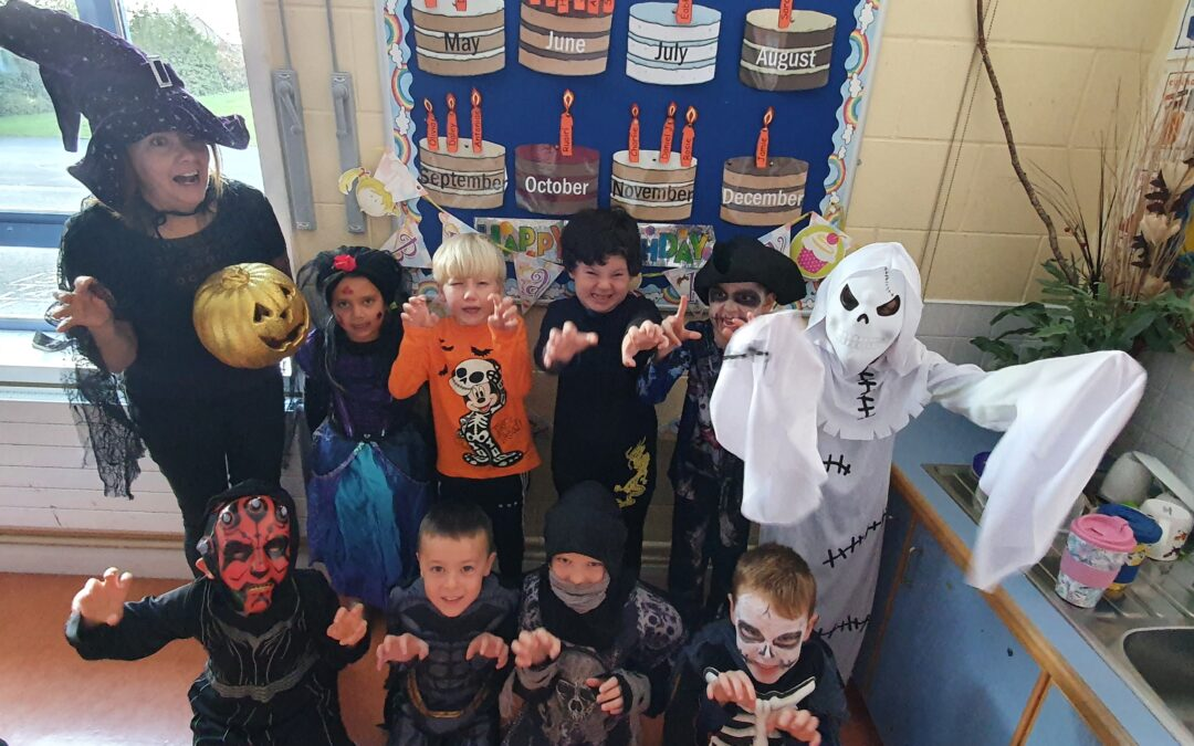 Spooky costumes in room 4