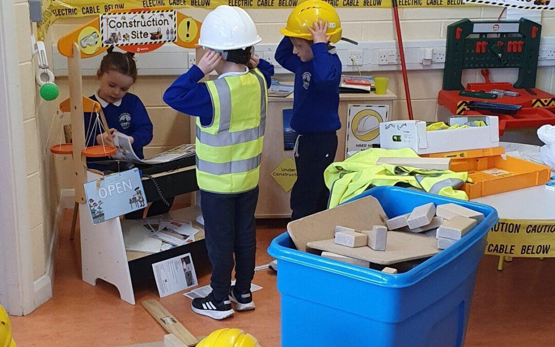 Construction Site in room 4- Engineering Week #STEM